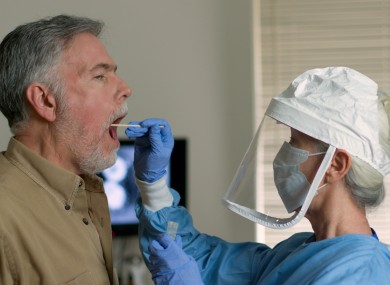 File image of a man being tested for Covid-19.