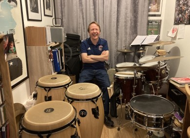 Stephen Kelly's drums are now in his spare room.