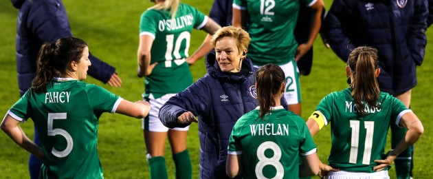 The Ireland team after their clash with Denmark during the week.