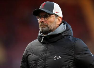 Liverpool manager Jurgen Klopp (file pic).