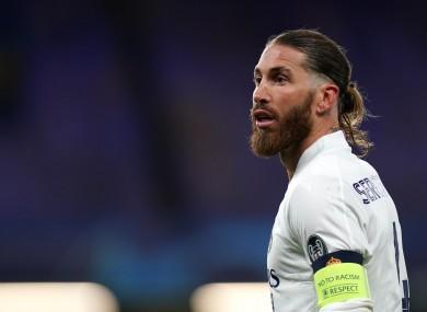 Real Madrid captain Sergio Ramos.
