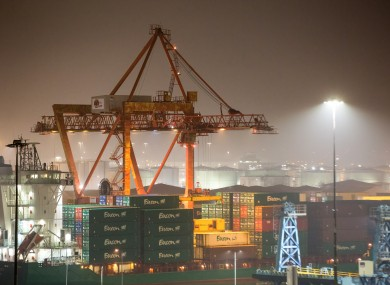 A view of cranes at Dublin Port (file photo)