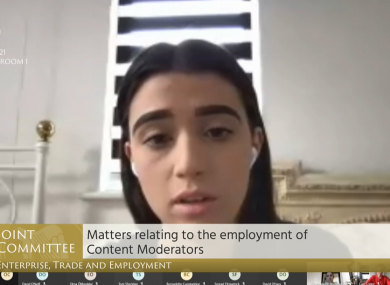 Isabella Plunkett, a content moderator for Facebook, has spoken out against working conditions in the role
