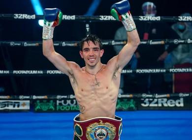 Michael Conlan celebrates winning