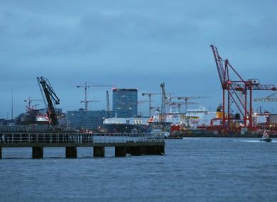 Stock image of Dublin Port