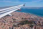 View from a plane over Lisbon, Portugal (file photo)