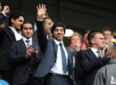 Manchester City owner Sheikh Mansour.
