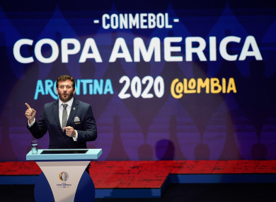 A general view of the Copa America draw.
