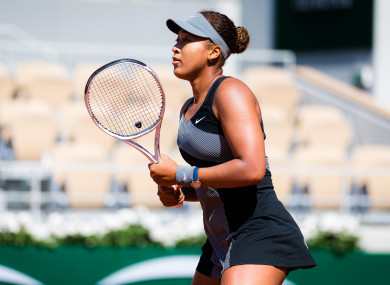 Naomi Osaka in action at this year's French Open.