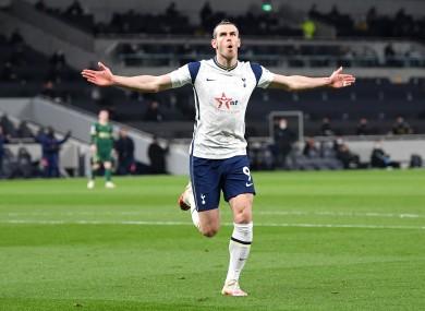 Gareth Bale celebrates.
