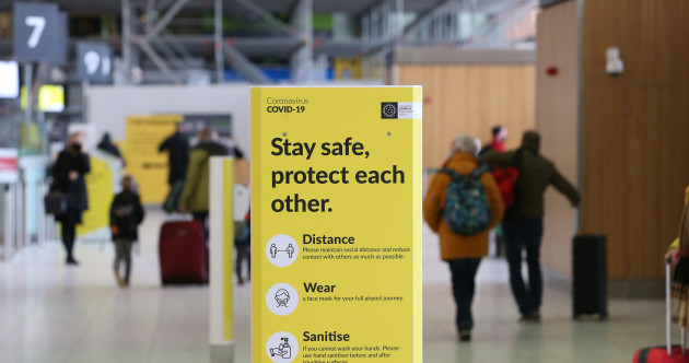 Tighter travel restrictions on arrivals from Britain into Ireland take immediate effect