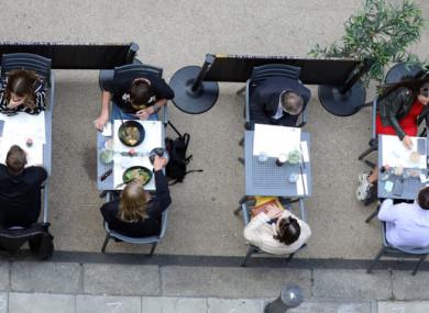 Outdoor dining resumed on 7 June