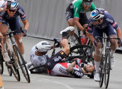 The Tour de France has been marred by several crashes this year.