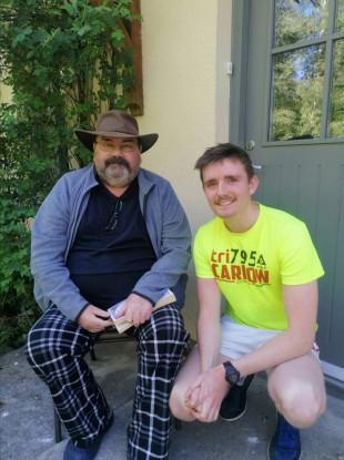 Cian Heffernan with his father John.