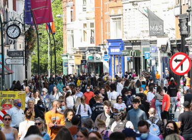 Grafton Street in Dublin, pictured here last month.