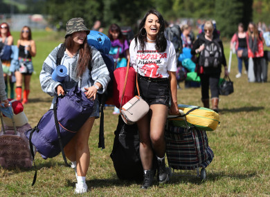 People arriving for the Electric Picnic festival in Stradbally, County Laois, in 2017