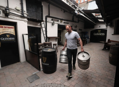 Kevin Barden at O'Donoghues Bar in Dublin ahead of the reopening of pubs.