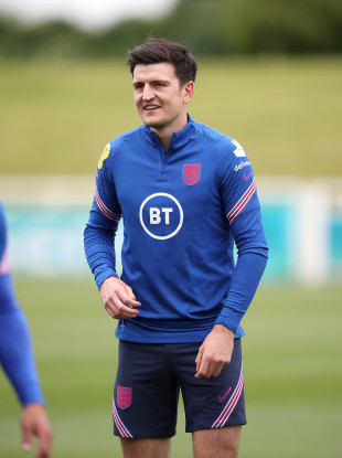 Harry Maguire in England training today.