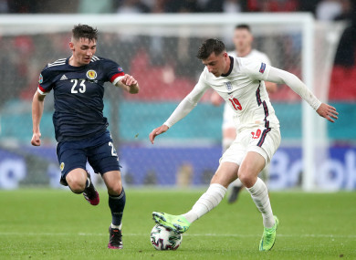 Mason Mount and Billy Gilmour in action.