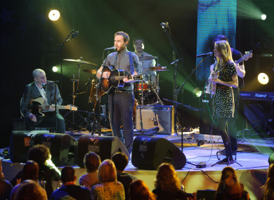 James Vincent McMorrow performs at the European Border Breakers Awards. 2012.