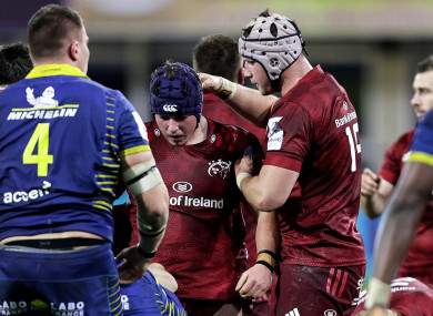 The Wycherley brothers in action against Clermont.