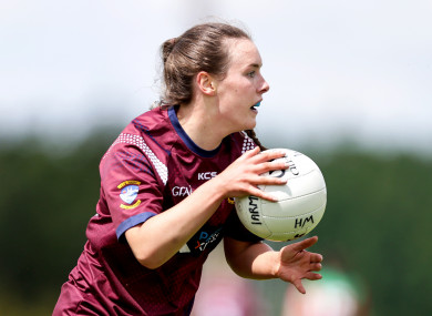 Westmeath's Lucy McCartan, also a talented soccer player with Peamount United, scored 1-2 today.