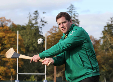 Bent hurling on his first day in Ireland camp.