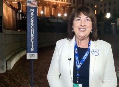 Cronin pictured at the 2020 Democratic National Convention