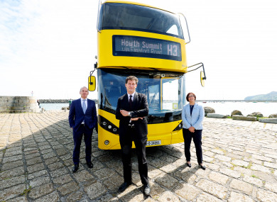 Dublin Bus CEO Ray Coyne, Minister for Transport Eamon Ryan and NTA CEO Anne Graham