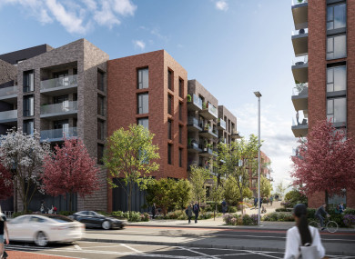 A computer-generated image of the proposed Pembroke Quarter development