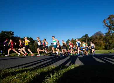 A general view of the 2019 Dublin Marathon.