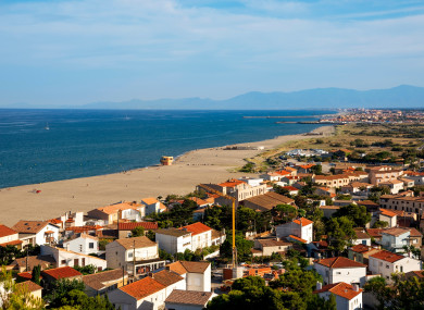The town of Leucate on the coast of southern France: Local media said the woman swept away by strong currents.