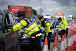 File photo of gardaí at a checkpoint.