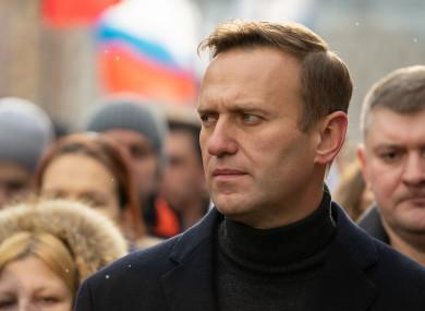 Alexei Navalny in 2020.