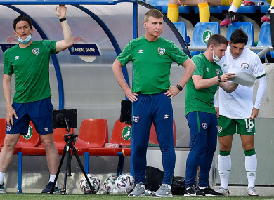 Stephen Kenny during Ireland's game with Andorra.
