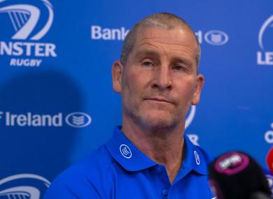 Leinster senior coach Stuart Lancaster.