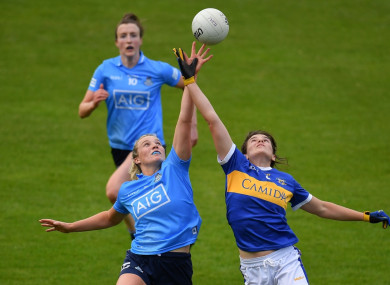 Dublin's Jennifer Dunne against Anna Rose Kennedy of Tipperary