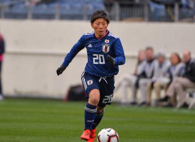 Kumi Yokoyama pictured playing for Japan in 2019.