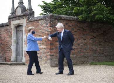 Boris Johnson welcomes the Chancellor of Germany Angela Merkel to Chequers this week.
