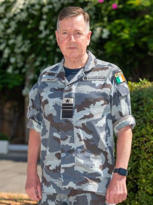 Chief of Staff of the Defence Forces Vice Admiral Mark Mellett.