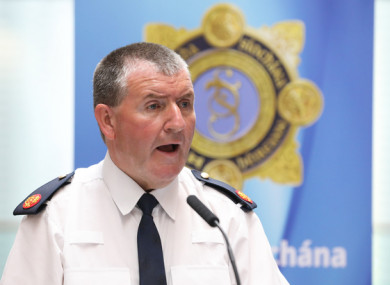 Assistant Commissioner Pat Clavin speaking at the launch of the GACU.