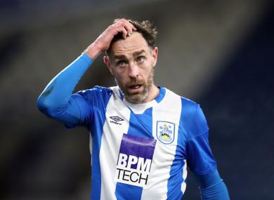 Richard Keogh in action for Huddersfield last season.