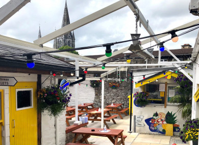 The beer garden at Tom Barry's in Cork city.