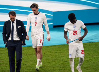 Dejection for England.