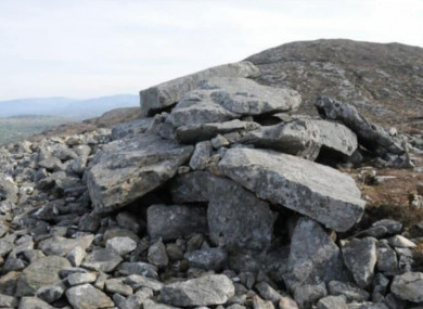 The passage tomb at Carrownamaddoo and Castle Dargan has been significantly damaged.