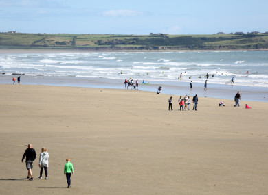 Tramore beach in Co Waterford.