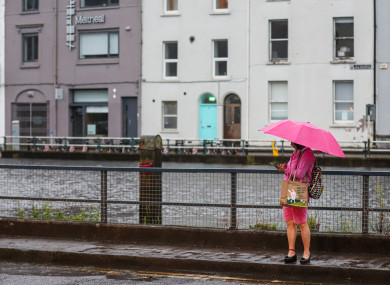 A rainfall warning is in place for Cork, Waterford and Wexford. File photo.
