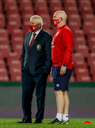 Gatland and Lions assistant coach Steve Tandy.