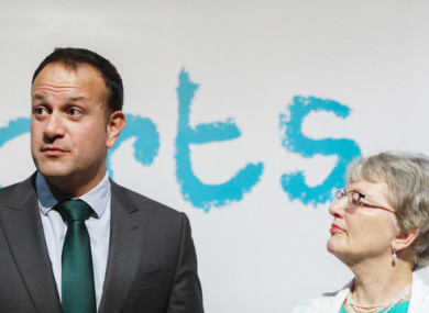 Varadkar and Zappone pictured in 2017.