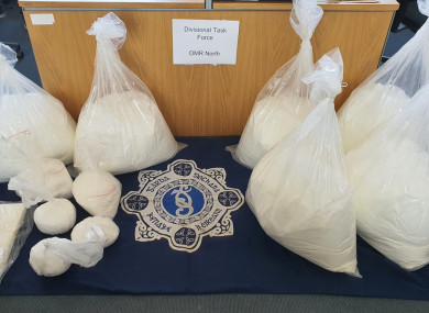 Suspected cocaine and mixing agent were seized as part of the operation.